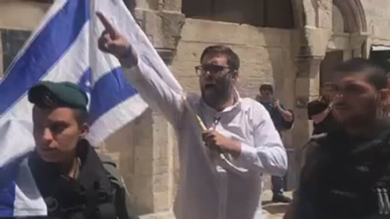 """ח""""כ חזן הותקף בעיר העתיקה בירושלים"""