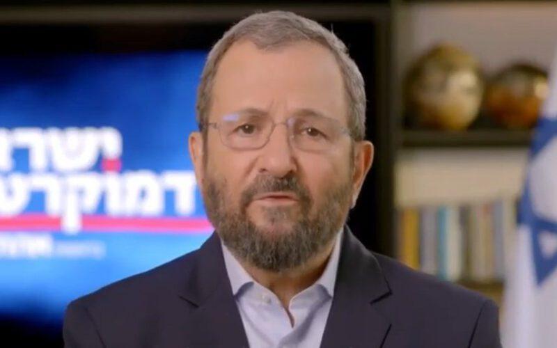 אהוד ברק (צילום ישראל דמוקרטית)