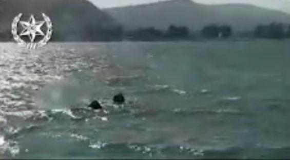 חילוץ גבר ואשה שנפלו מאופנוע ים בכנרת