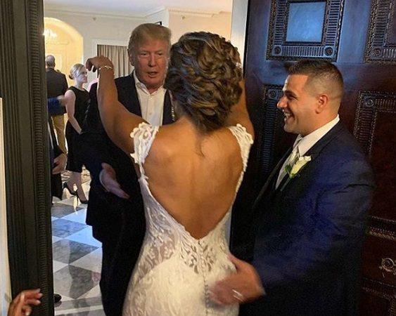 הנשיא טראמפ והזוג המאושר (Photo: LindaLee (Instagram)