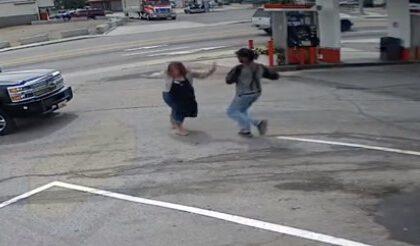 """אלימות בתחנת דלק בארה""""ב"""