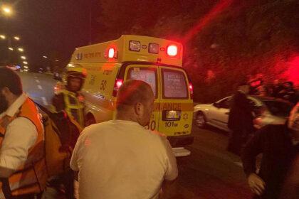"""זירת התאונה (צילום: מד""""א)"""