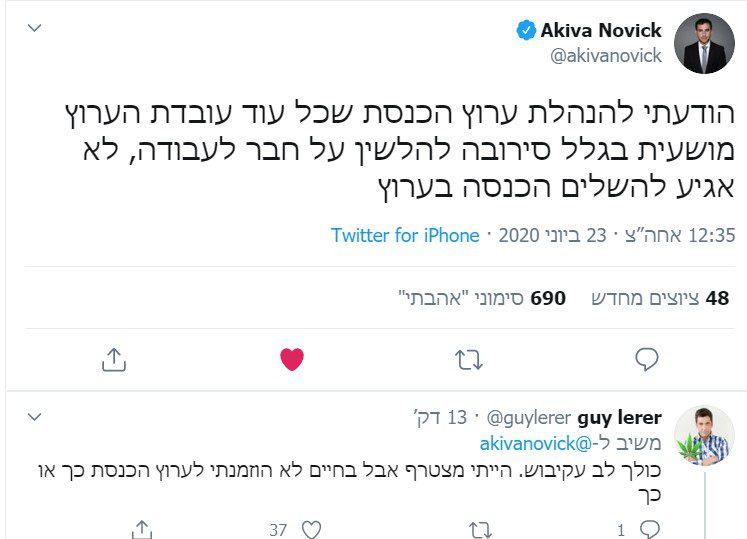 פוליגרף ופיטורים: עקיבא נוביק נגד ערוץ הכנסת